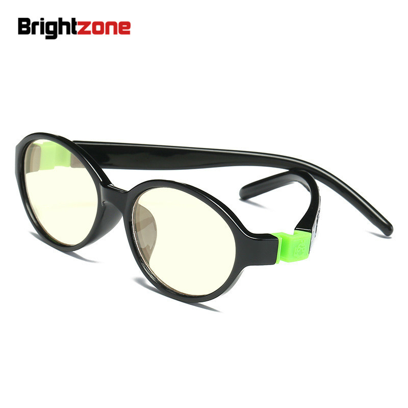 Brightzone TR-90 Children Stop Eye Stain Yellow Sleep Better Anti-UV Blue Light Blocking Kids Gaming Glasses Eyewear Goggles