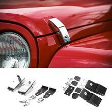 SHINEKA 2 Color Metal Cubierta Del Motor de Cerradura de tapa Del Cierre con Llave de Bloqueo para Jeep Wrangler JK