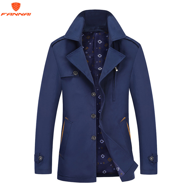 Solid color Large size New Casual windbreaker Jacket M-4XL Men Spring Autumn Outerwear Mandarin Collar Clothing