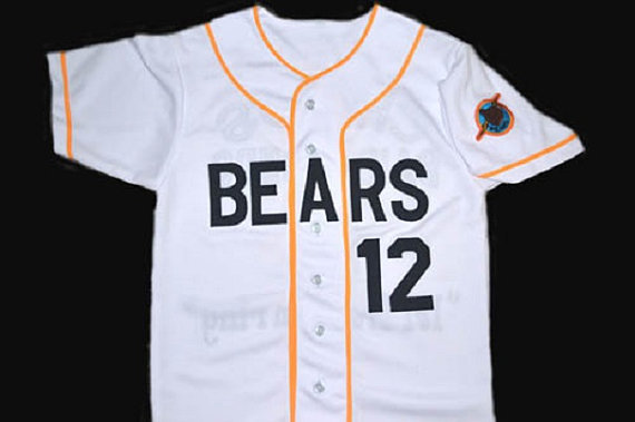 47d32ba9363 12 BAD News BEARS Movie Button Down Throwback Baseball Jerseys,Chicos Bail  Bonds Retro Customized Embroidery and Stitched Jersey