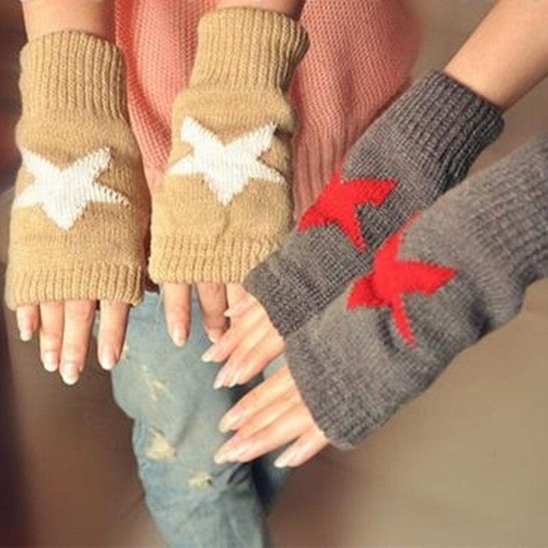 OMH venta al por mayor guantes de algodón para hombres y mujeres amantes guantes sin dedos de moda de color blanco y negro para chicas en invierno - 2
