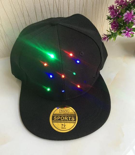ce2adda7bff51 KTV Dance LED Hat Stage Show Light Up Baseball Caps Glowing Hat for Party  Hip-Hop Running Hunting Jogging Adjustable black gift