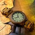 BOBO BIRD Дерево Наручные Часы Натуральных Пало Санто Дерево Часы Движение Япония 2035 Кварц Деревянный Группа Древесины Часы в качестве Подарков F19