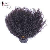 Peruvian Human Hair Bundles 4B4C Afro Kinky Curly Bundles Ever Beauty Remy Hair Extension 1 Piece
