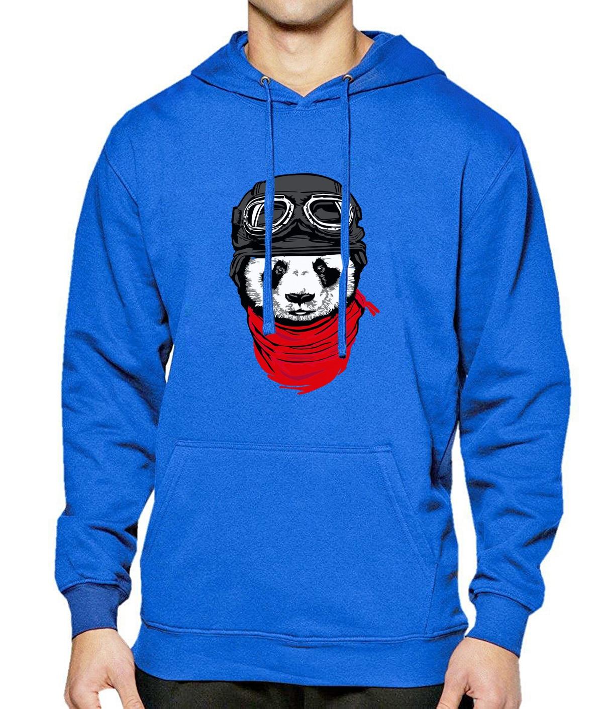 Spring Winter Fleece Warm Hoody With Hat 2017 Hot Long Sleeve Hoodies Mens Panda Crazy Print Cool Hip Hop Streetwear Tracksuit