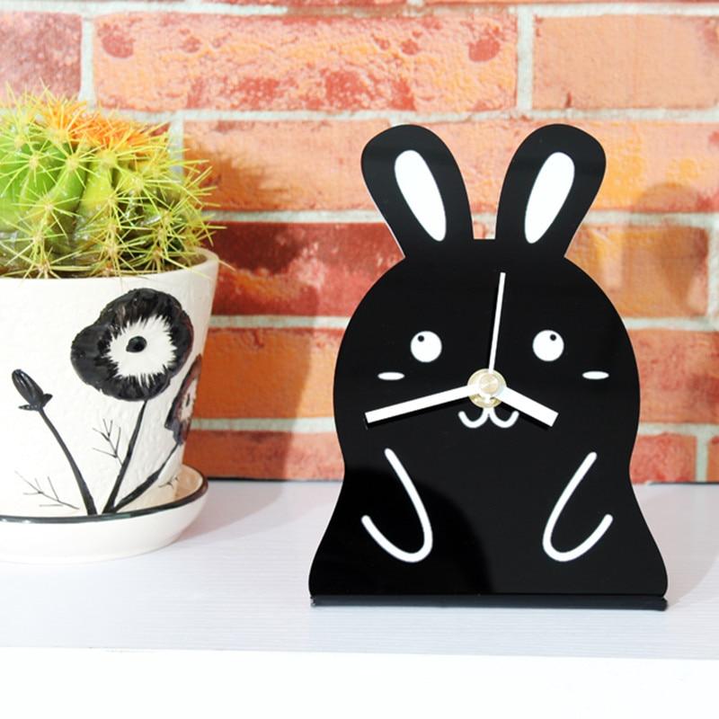 modern home fashion creative arts small clock desk clock desktop clock japan and south korea style - Desk Clocks