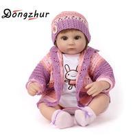 Dongzhur силикона Reborn Baby куклы возрождение кукла Симпатичные ткань мягкие куклы для детей сопровождать Спящая играют партнера внешней торговл