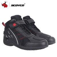 SCOYCO мотоциклетные ботинки дышащие кроссовые внедорожные гоночные ботинки мужские мото ботинки мотоциклетные ботинки Защитное снаряжение ...