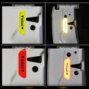 Image 5 - 4 cái/bộ Xe MỞ Băng Keo Phản Quang Cảnh Báo Mark Phản Quang Mở Thông Báo Phụ Kiện Xe Đạp Bên Ngoài Miếng Dán Cửa Xe Hơi DIY