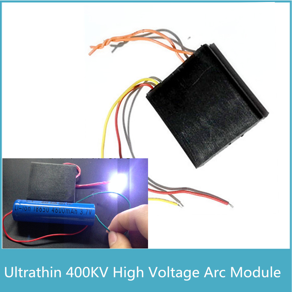 1pcs Super 2cm Voltage Arc 400KV High Voltage Generator, Small Ultrathin Pulse DC High Voltage Module