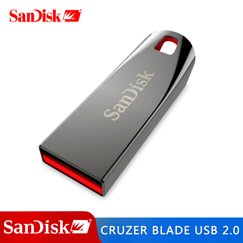 SanDisk USB Flash Drive CZ71 USB 2.0 Pendrive 64GB 32G 16GB 8GB Memory Flash Pen Drives For PC Tablet Support Official
