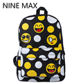 2016 FASHION Priting Canvas Smiley School Bag Casual Children Smile School Bags For Teenagers Women's Mini Smile Book Bag Kids