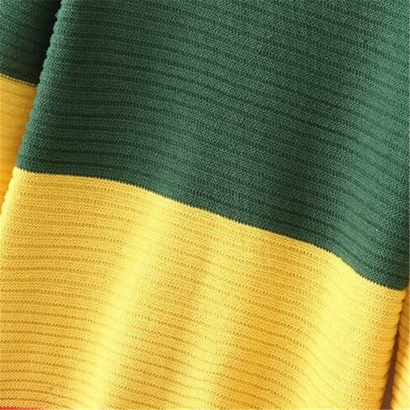 Women Casual Multi Color Stripe Jumper Long Fashion Blue Green ...