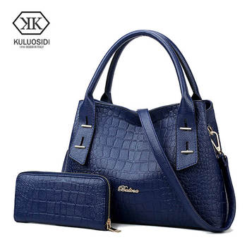 KULUOSIDI Vintage Women Handbags PU Leather Shoulder Bags Women Composite Bag Purse and Handbags Big Capacity Casual Tote Bags