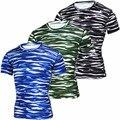 Camuflaje de verano de la Camiseta de Los Hombres Camo Army Tactical Combat Camiseta Militar Campamento Camisetas Casual Camisa De Compresión