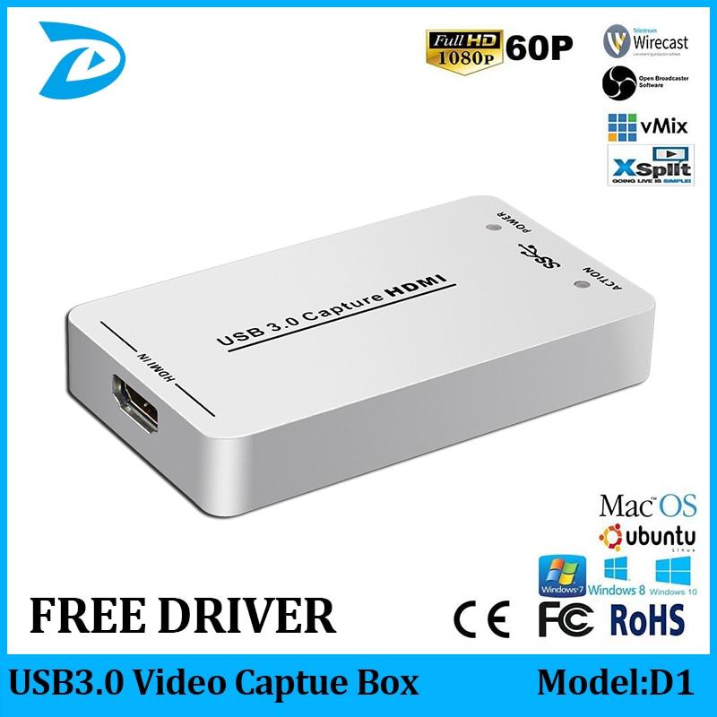 UC3200H USB3.0 1080P 60FPS HDMI Capture Box USB Live Broadcast OBS//vMix//Wirecast