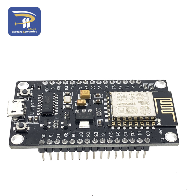 LLLNHQ Wireless NodeMcu Lua CH340G V3 Based ESP8266 WiFi Internet of Things IOT Development Module PC Board Relays
