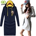 GOPLUS 2017 New Fall Women's Full Dress For Women Hooded One-Piece Plus Size Casual Women Hoodies S,M,L,XL,XXL,2XL,3XL,4XL M0063
