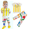 New 2016  Baby boy summer Sets boys clothing sets baby boy clothes t shirt+pants 2pcs/set B0727
