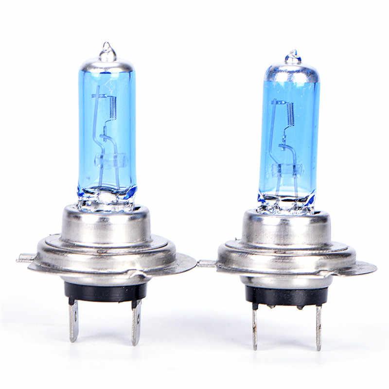Super w Hiteต่ำB EamโคมไฟสีขาวหลอดไฟฮาโลเจนหมอกรถH7 12โวลต์55วัตต์6000พันแสง