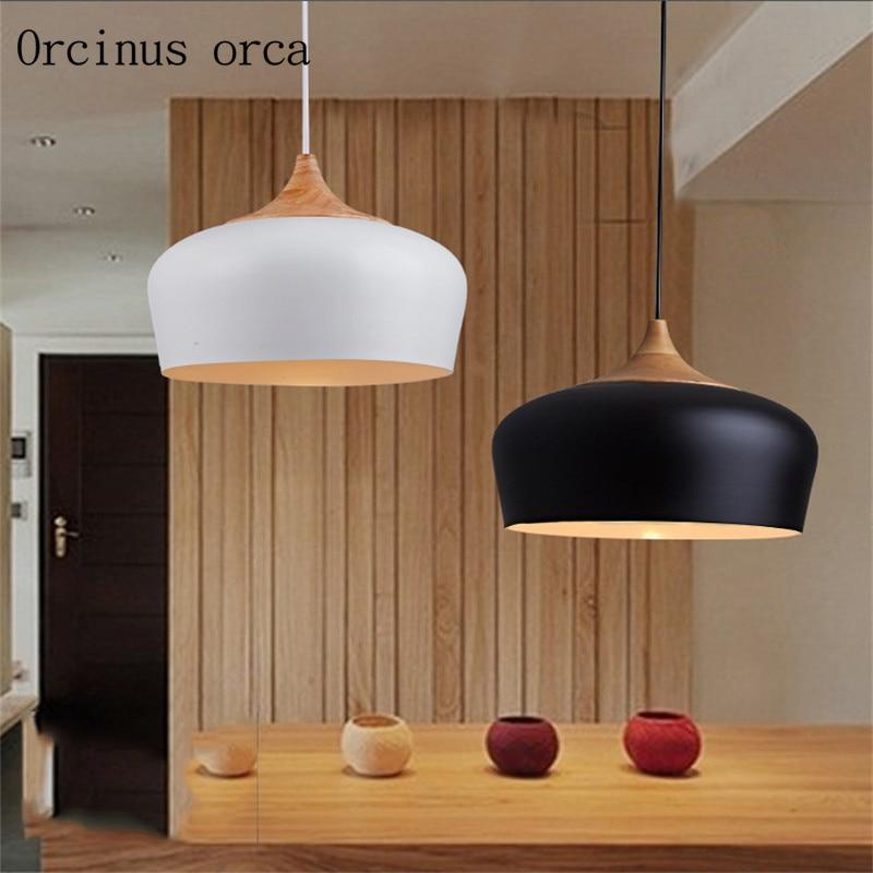 シンプルなレストラン寝室日本人木製創造バーレトロシングルヘッドログシャンデリア|retro chandelier|chandelier creativebar chandeliers -