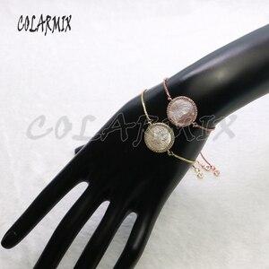Image 5 - Pulsera de conchas para mujer, accesorios de piedras de concha, pulseras de joyería de cristal para mujer, joyería 5434, 10 piezas