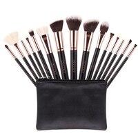 15pcs Set Makeup Brush Set High Quality Soft Synthetic Hair And Nature Professional Makeup Artist Brush
