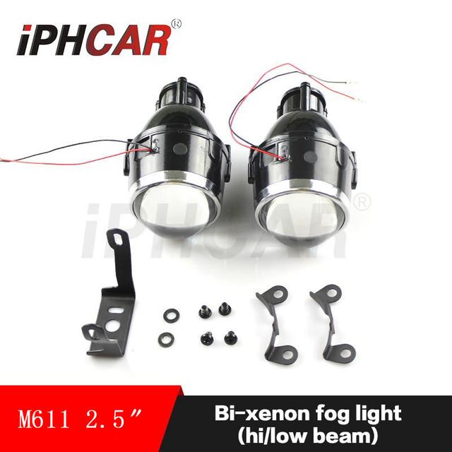 Envío libre iphcar car styling car fuente de luz a prueba de agua de alta luz de cruce de niebla luces retrofit lente del proyector lámparas de conducción