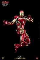 For Collection King Art 1:9 Diecast Alloy Iron Man Avenger Age of Ultr MK43 DFS009 Action Figure Model Toy for Fans Holiday Gift