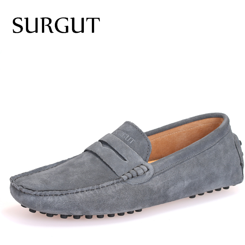 Summer Style Soft Moccasins Men Loafers Genuine Leather Shoes Men Flats Shoes