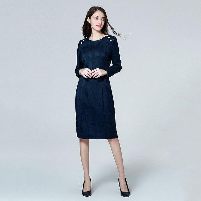 b5ac975e12d Marina Kaneva New Fashion Elegant Plus Size Dress Female Long Section  Temperament OL Bag Hip Long