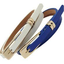 hot sale Fashion Thin Leather Narrow Waistband Belt Women Skinny Waist Belt for Lady Girl