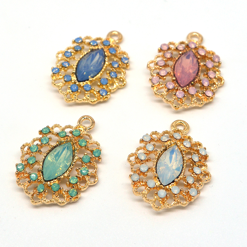 Vintage DIY Earrings necklaces making handmade resin Zinc Alloy Accessories Charms Pendant Bohemia Jewelry Findings 10pcs lot in Pendants from Jewelry Accessories