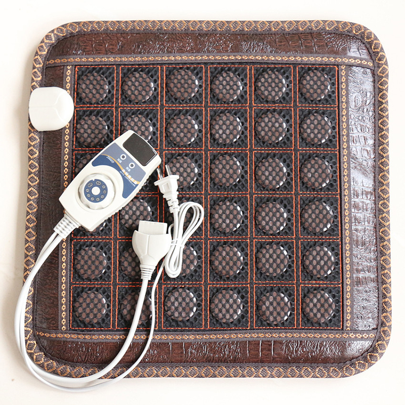 Image 2 - New Infrared Heating Mat Natural Jade Tourmaline Massage Pad Pain Relief Back Waist Leg Relieve Muscle Health Care Seat Mat 220V-in Massage & Relaxation from Beauty & Health