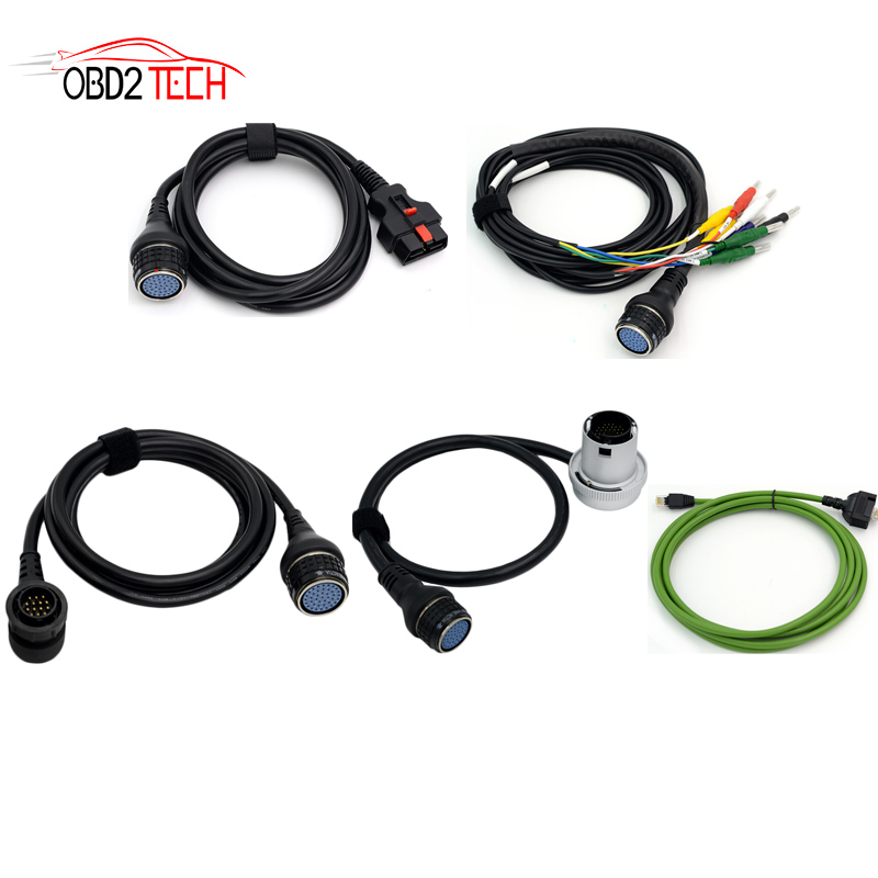 Set completo di Auto Diagnotic Cavi Per MB Star C4 16pin + 14pin + 38pin + Lan Via Cavo + 8pin per 38pin per MB Star Compatto 4