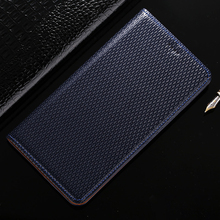 Top Genuine Leather Magnetic Case For Lenovo Vibe P1 Retro Luxury Stand Flip Mobile Phone Cover