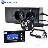 Digital Temperature Controller Timer Day Night Reptile Dimming Thermostat for Aquarium PID Control with EU plug