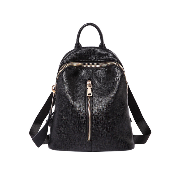 Leather Backpack Women School Bags For Girls waterproof Zipper Bag Black Fashion Casual Travel Large Capacity Shoulder Bags F стоимость