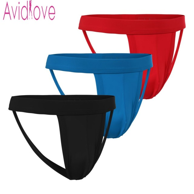 Avidlove Men Sexy Thongs G-String Hollow Out Strap Thongs Underpants Classic Breathable Briefs Underwear 3 Pieces/Set U2