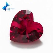 Размер 3x3 мм ~ 12x12 5 # красный камень в форме сердца синий