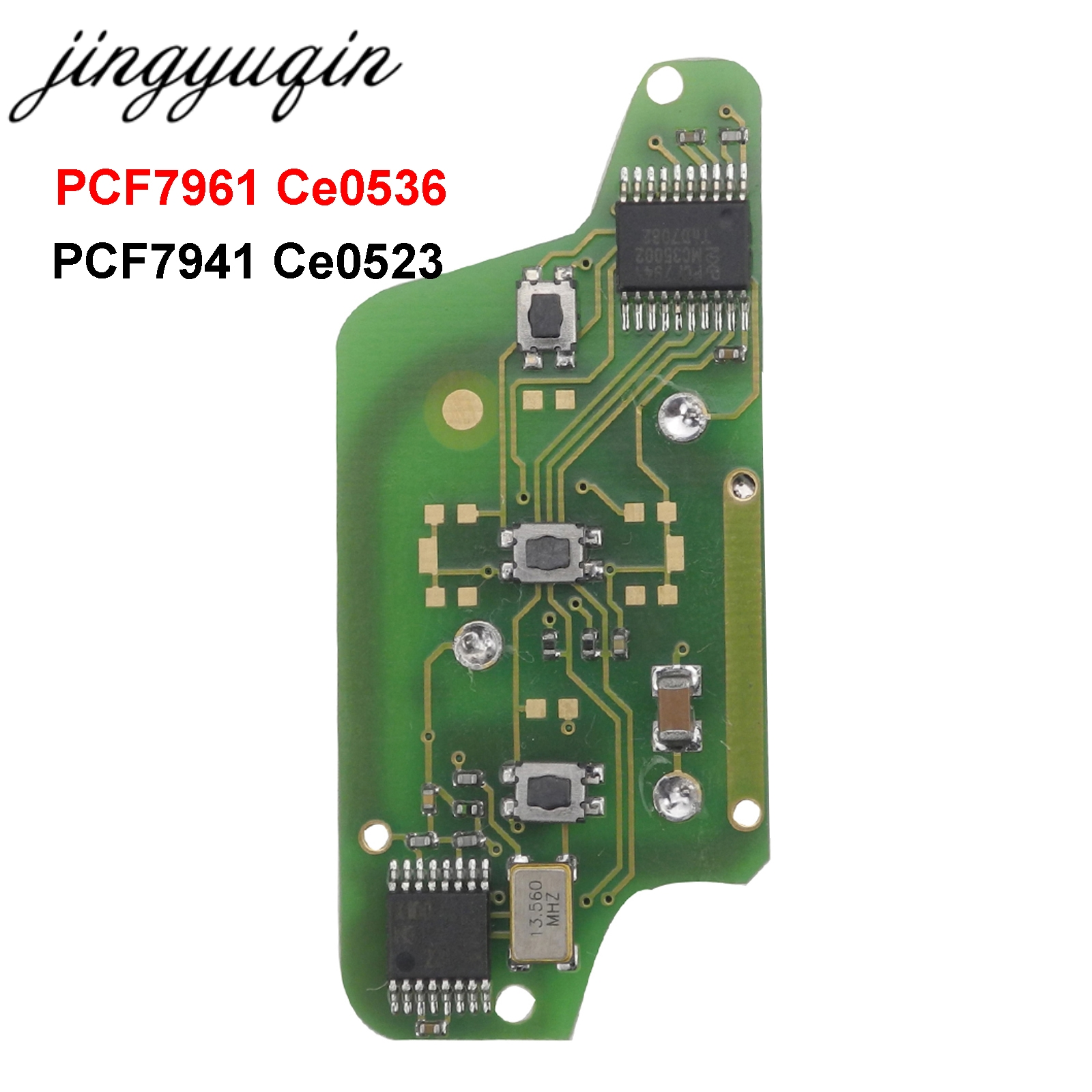 Jingyuqin For Peugeot 407 407 307 308 607 Citroen C2 C3 C4 C5 ASK Remote Key Electronic Circuit Board 3 Buttons CE0523 Ce0536