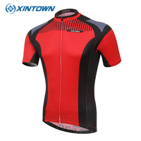 XINTOWN Summer Breathable Short Sleeve Cycling Jerseys Red Velo Ropa Ciclismo Road Bike Clothing Racing Shirts Bicycle Clothes