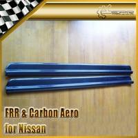New 2pcs Door Sill Panel Kick For Nissan Skyline R33 GTR GTS Carbon Fiber Car Accessories
