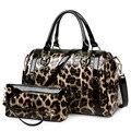НОВЫЙ Роскошный Leopard Женщин Сумки Известных Брендов сумки На Ремне Дизайнер Кожаные сумки Высокого Качества Моды Crossbody Сумки Два Куска