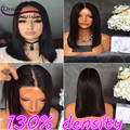 Brazilian Virgin Human Hair Full Lace Wig Straight Lace Front Wig Short Bob Hair Glueless Full Lace Wig Wavy For Black Women