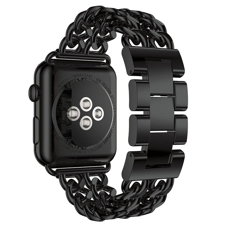 Metal Stainless Steel Link Chain Watch Band Strap for Apple Watch 38 42mm Series 1 2
