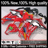 Bodys Red White Injection For KAWASAKI NINJA ZX10R ZX 10R JK222 ZX 10R New Glossy Red
