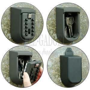 Image 3 - 새로운 블랙 헤비 듀티 키 숨겨진 스토리지 안전 상자 4 디지털 암호 잠금 홈 carvan office rv에 대 한 비바람에 견디는 케이스