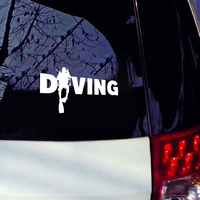Fashion Diver Diving Sticker Car Auto Bumper Window Computer Decal Decoration PET Reflective Material 4