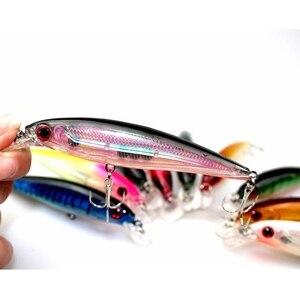 Image 3 - 10Pcs großhandel heißer verkauf Angeln lockt japan kit pesca VMC haken Karpfen angehen Köder Künstliche fisch angeln wobbler 12Cm13. 4g